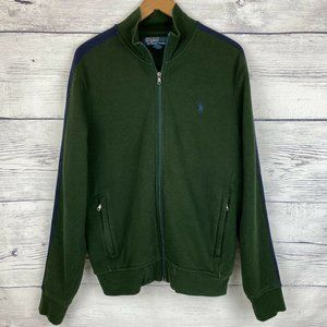 Polo Ralph Lauren Green Med Track Jacket Stripe